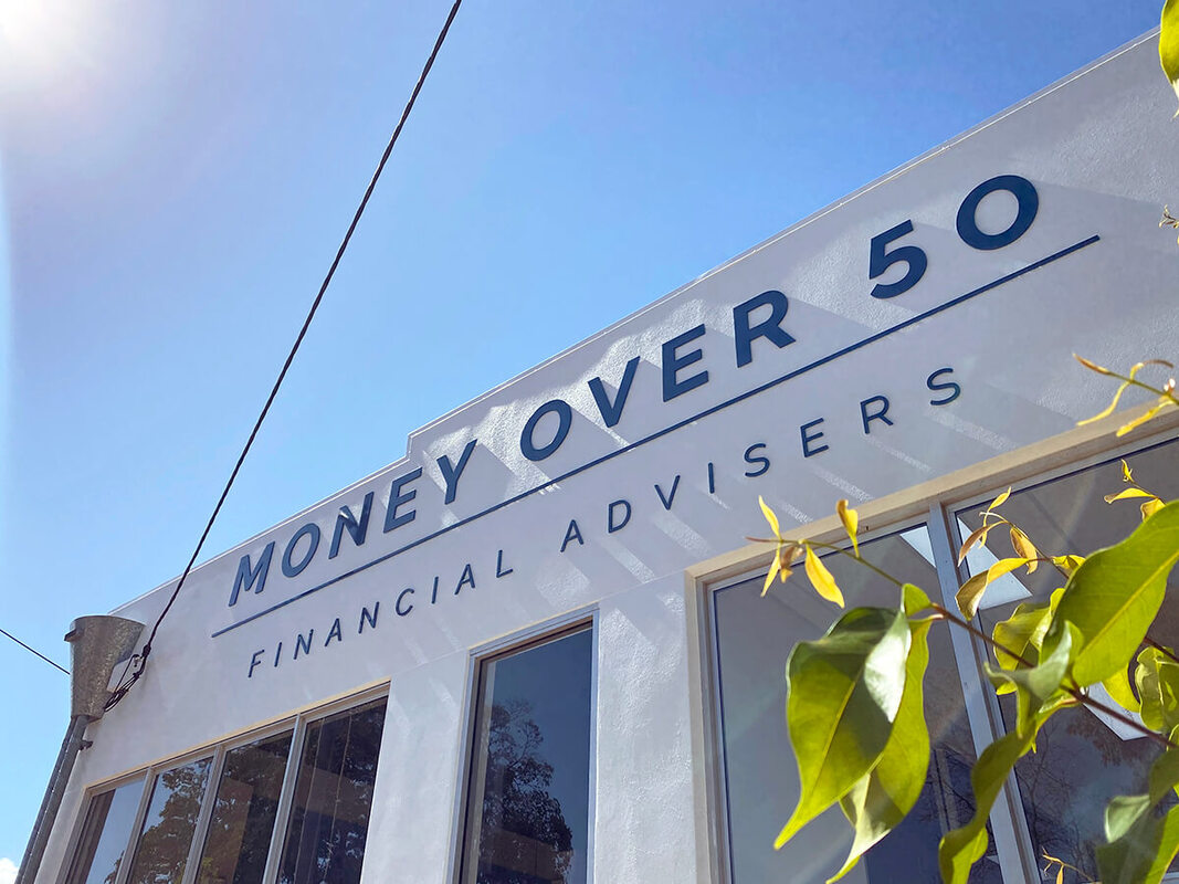 Brisbane Marketing Agency Grey and Grey Case Study Money Over 50 Signage