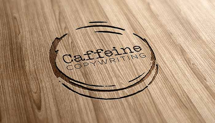 Logo design for Caffeine Copywriting by Roxanne Grey Marketing Consultant