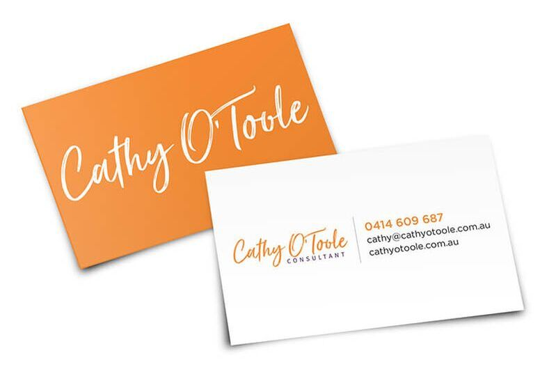 Grey and Grey Marketing Consultant Case Studies Cathy OToole Consultant Townsville Business Card Design and Print